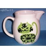SCANDINAVIAN(FINNISH) MODERN-ARABIA GREEN CAT (IRTOPAAKISSA) PITCHER - $152.45