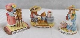 3 - Linda Grayson Figurines Sarah, Rebecca & Rachel - Tea Party Teddies ... - $23.71