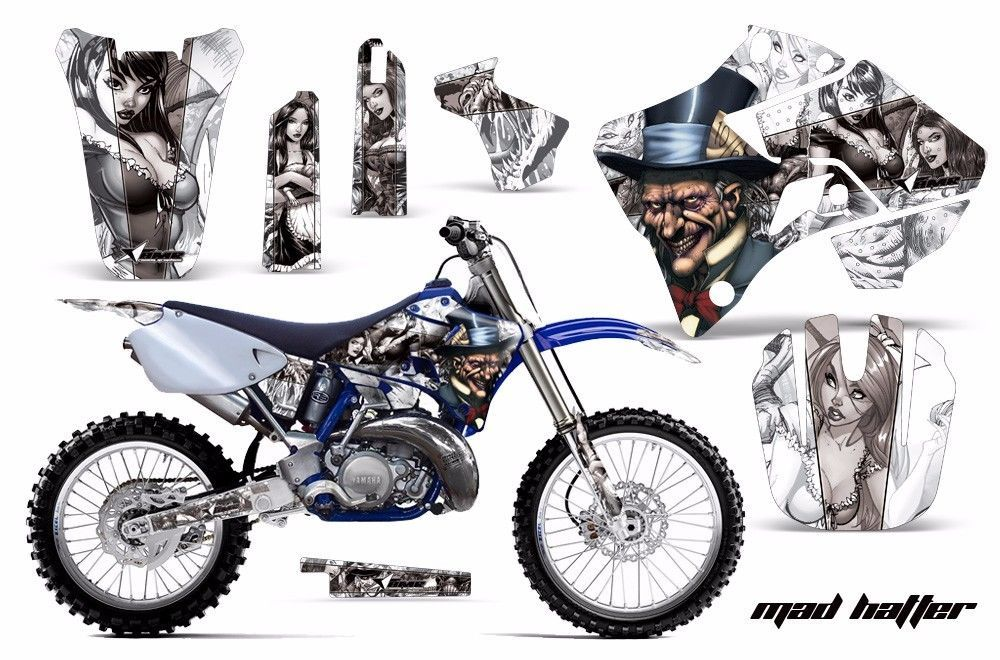 Dirt Bike Graphic Kit Decal Sticker Wrap For Yamaha YZ125 YZ250 96-01 HATTER S W