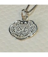 Brand New 925 Sterling Silver Double Sided Chinese Characters and Dragon... - $19.06