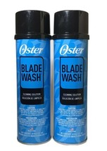2x Oster Blade Wash Cleaning Solution Lubricate For Clipper Blades 18oz NEW - $29.69