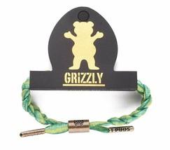 Rastaclat X Torey Pudwill Verde Grizzly Indica Intrecciato Lacci Bracciale Nuovo