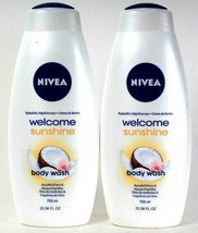 2 Bottles Nivea 25.36 Oz Welcome Sunshine Almond Oil & Coconut Scent Bod... - $27.99