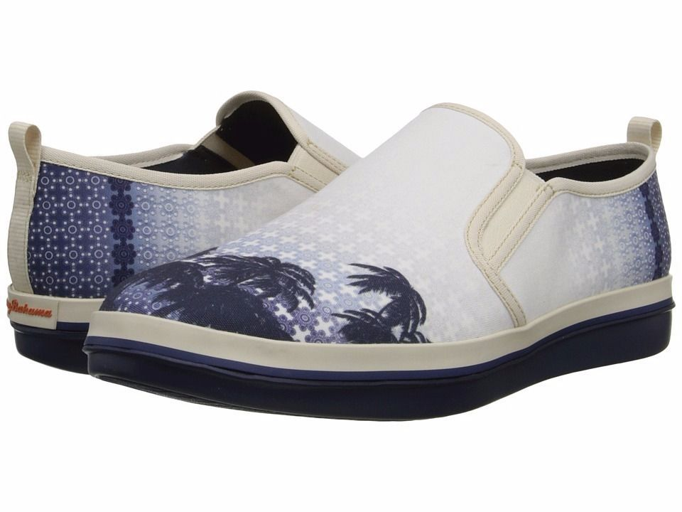 Tommy Bahama Relaxology Ryver Canvas Beach Bum Mens Slip On Shoes Size 10.5 $98
