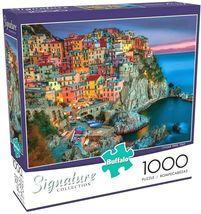 1000 Piece Jigsaw Puzzle Buffalo Signature Coll. 26 x 19 CONQUE TERRE ITALY - $18.95