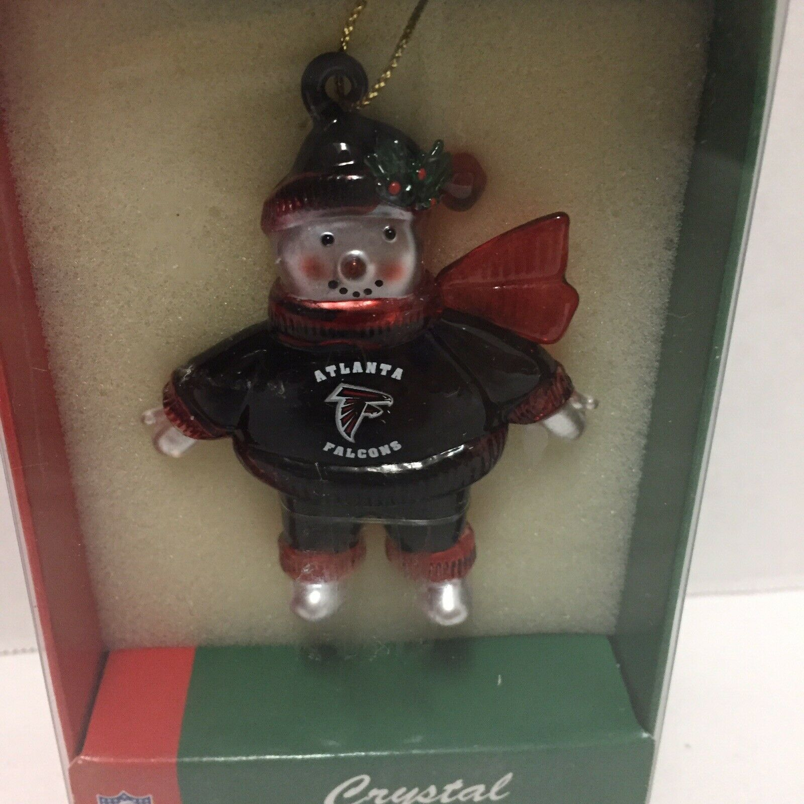 Primary image for Atlanta Falcons Football Snowman Christmas Ornament NFL Crystal Snowmen