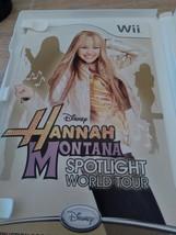 Nintendo Wii  Disney Hannah Montana: World Spotlight Tour - COMPLETE image 2