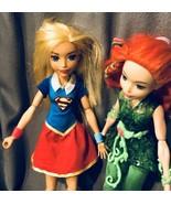 "Girls DC Super Heroes 12"" Action Figure 2 Doll Lot Super Girl & Poison Ivy B21 - $29.96"