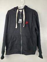 Nike Mens Sweatshirt Size Small Black Hoodie Full Zip Long Sleeve Red Lo... - $89.88