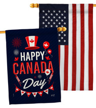 Canada Day - Impressions Decorative USA Embroidery House Flags Pack HP13... - $59.97
