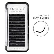 TDANCE Eyelash Extension Supplies,Ellipse Eyelash Extensions 0.1mm D Curl Mink F