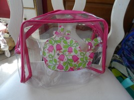 Vera Bradley Clear Beach Cosmetic in Lilli Bell whale - $28.00