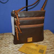 Dooney & Bourke Triple Zip Calf Leather Crossody NWT Brown image 7