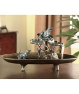 Frogs On Lily Pads Pond Table Top Water Fountain Garden /Patio Decor,19.... - $185.00
