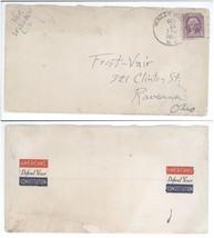 1935 Water Mill LI NY Ravenna OH Cover, 2 Constitution Label Sticker Cin... - $7.69