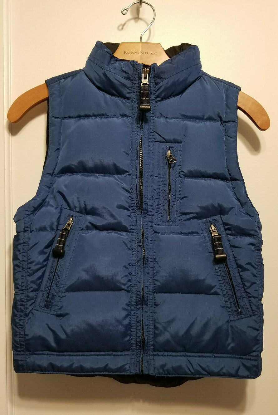 Primary image for Gap Kids Boys Outerwear Puffer Vest, Down Filled, Nylon/Poly, Blue, Size S, NWHT