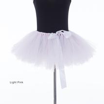 WOMEN MINI TUTU Skirt Drawstring Waist Solid Color Mini Petticoats Ballet Skirts image 12