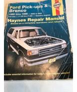 Haynes Ford Pick-Ups & Bronco 1980 thru 1996 2WD & 4WD Repair Manual Pre... - $7.13