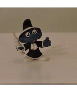 Vintage SMURF Figurine QUACK Doctor Smurf BRAINY Peyo BULLY PVC 1973 - $11.88