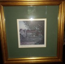 English Tudor Cottage Offset Lithograph Signed By Tom Caldwell image 3