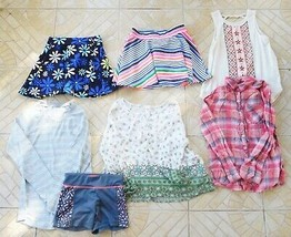 Girls Clothes Lot 7 ALL JUSTICE 2 Skirts-4 Tops-1 Shorts Szs 7-8 EUC (T) - $38.99