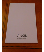 Vince Men's Clothing Collection Catalog Fall 2014 w Pricing & Descriptio... - $11.99
