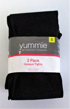 Yummie by Heather Thompson Opaque Tights Two Pair Black & Gray Size: Medium - €10,96 EUR