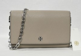 Tory Burch Robinson Leather Chain Wallet/Shoulder/Crossbody Bag in Frenc... - $239.00