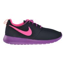 Nike Rosherun (GS) Big Kids' Shoes Black-Pink Pow-Bold Berry-Orange 599729-007 - $69.95
