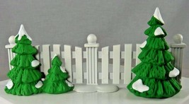 Dept 56 Snow Village Frosty Tree-lined Picket Fence Christmas 52078 Metal - $12.59