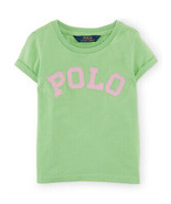 "Ralph Lauren Girls ""Polo"" Applique Top T-Shirt - Force Green, Size 3/3T - $19.00"