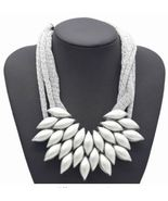 Exaggerated Weaving Geometric Statement Necklace 92 A - $9.00