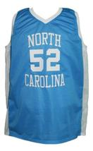 James Worthy #52 College Basketball Jersey Sewn Light Blue Any Size image 1