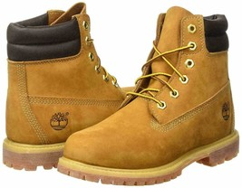MEDIUM-WIDE Timberland 6 Inch Waterville Double Collar Wheat Womens Boots 42687 - $149.99
