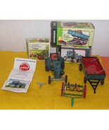 Vintage Tractor / Trailer / Swather Rake Wind-Up Toy (All New Boxed ) - $200.00