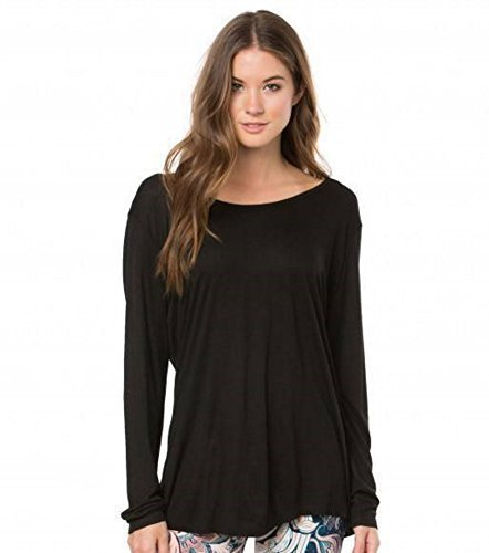 O'Neill 365 Junior Women's Active Long Sleeve Tee Shirt Astrid, Black (XS)
