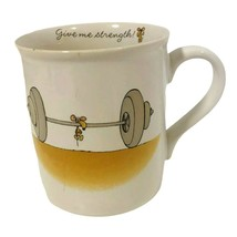 "Hallmark Rim Shots Coffee Mug Cup ""Give Me Strength"" Mouse Weights Vinta... - $14.84"