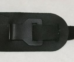 LM Products B5BK Leather Banjo Guitar Strap Black Two And Half Inch image 4