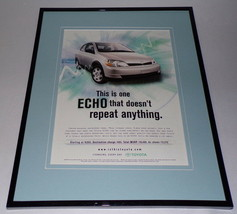 2000 Toyota Echo 11x14 Framed ORIGINAL Vintage Advertisement - $34.64