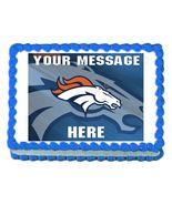 Denver Broncos Football Edible Cake Image Cake Topper - $8.98