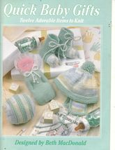 Quick Baby Gifts Knit Booties Hats Mitts Leisure Arts Patterns12 Designs... - $10.00