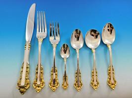 Medici Golden by Gorham Sterling Silver Flatware Set 8 Service 63 pieces Dinner - $5,600.00