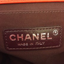 AUTHENTIC CHANEL RED LEATHER CHEVRON QUILTED MEDIUM BOY FLAP BAG RHW image 8