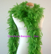 Lime Green 65 Grams Chandelle Feather Boa   Party Halloween Costume - $8.19