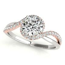 14k White And Rose Gold Bypass Band Diamond Engagement Ring (1 1/8 cttw) - $5,532.69