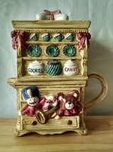 1993 Fitz & Floyd Omnibus Holiday Stacking Creamer and Sugar Cupboard To... - $24.74