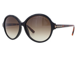 NEW Tom Ford FT 0343 05B Milena Black Havana Brown Gradient Sunglasses (NO CASE) - $116.97