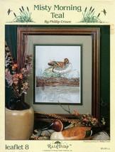 Misty Morning Teal Duck Stoney Creek Cross Stitch Leaflet 8 by Phillip C... - $6.95