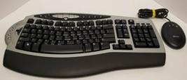 Microsoft Wireless Comfort Keyboard 4000 1045 Ergonomic with Transmitter - $39.59
