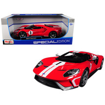 2017 Ford GT #1 Red with White Stripes Heritage Special Edition 1/18 Die... - $51.59